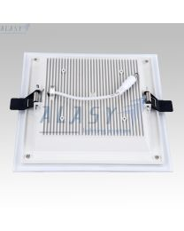 Đèn LED Âm Trần Vuông 18W Có Kính Đổi Màu DSTG018-3A
