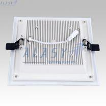 Đèn LED Âm Trần Vuông 12W Có Kính Đổi Màu DSTG012-3A
