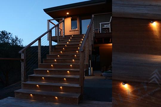 lợi ích khi sử dụng đèn led âm cầu thang