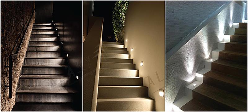 bí quyết chọn đèn chiếu sáng cầu thang đẹp